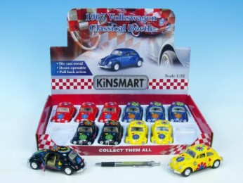 Auto Kinsmart VW BEETLE classical hippies 13cm